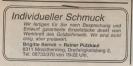 Unterlagen vor 1992 : Brigitte Berndt und Rainer Pützkaul Dingolfinger Anzeiger November 1984