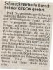 Preisverleihung Brigitte Berndt Federleicht für das Ohr GEDOK Mittelbayerische Zeitung April 1996