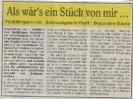 Ausstellung Als wärs ein Stück für mich Wochenblatt September 1997