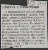 Ausstellung Mira Schmuck aus Barcelona Mittelbayerische Zeitung April 1997