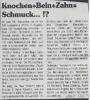 Ausstellung Knochen Bein Zahn Schmuck Logo Oktober 1998