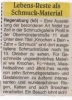 Ausstellung Knochen Bein Zahn Schmuck Wochenblatt September 1998