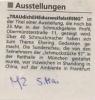 Ausstellung Trau dich Ehe du zweifelst Ring Mittelbayerische Zeitung Mai 1998