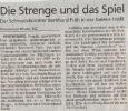 Ausstellung Die Strenge das Spiel und der Raum dazwischen Mittelbayerische Zeitung Oktober 2001