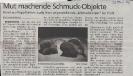 Ausstellung Schmuckobjekte aus Karton Mittelbayerische Zeitung Mai 2001