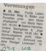 Ausstellung Jens Rüdiger Lorenzen Wochenblatt Mai 2003