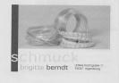 Anzeige brigitte berndt SCHMUCK Broschüre KISS 2008