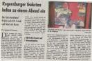 Ausstellung Galerienabend Mittelbayerische Zeitung September 2013